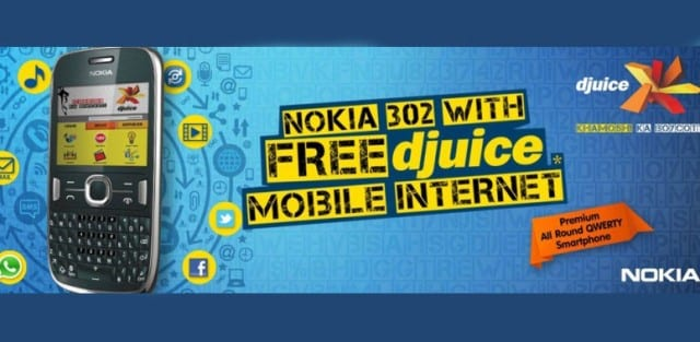 Djuice offers Free Mobile Internet with Nokia Asha 302 purchase