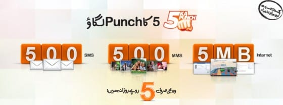 Ufone Brings Paanch ka Punnch Offer for Just Rs 5