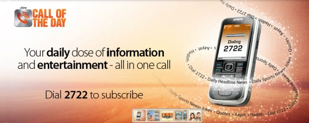 Ufone Set to Make Life Easier With 'Call of the Day' Facility