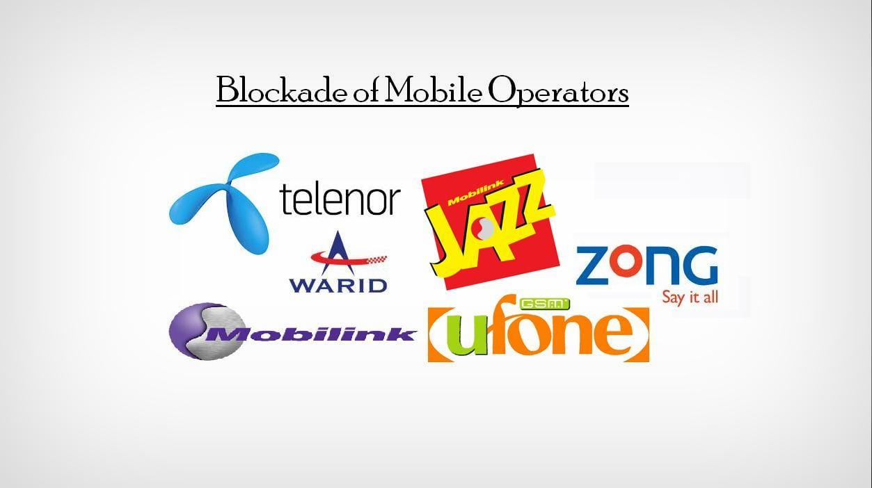 Telcos suffered because of the blockade