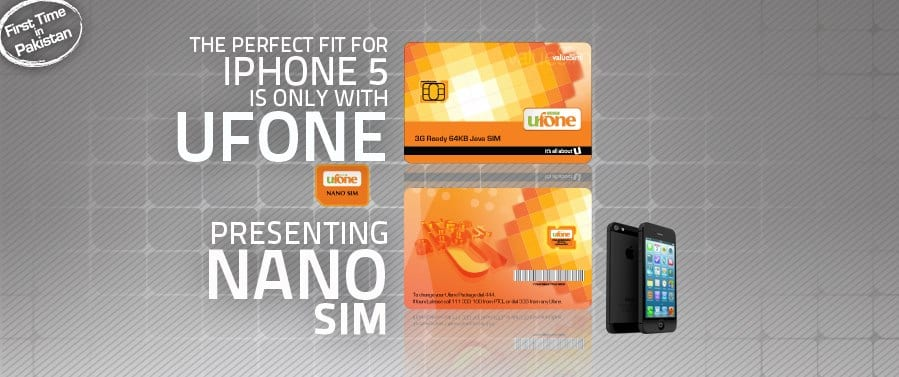 Seal the deal of iPhone 5 with Nano SIM from Ufone