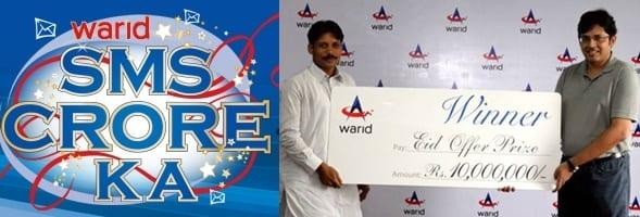 Warid Gives Rs 1 Crore to Eid Offer Winner