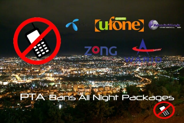 PTA Has Banned All Night Packages