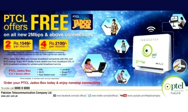 "Try out PTCL "" Jadoo Box "" for Endless Connectivity"