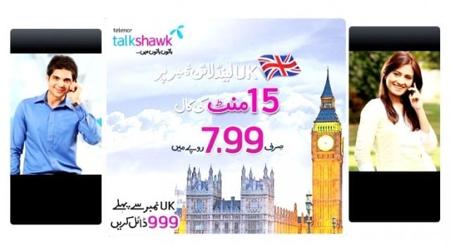 Telenor Offers Special Call Rates for UK