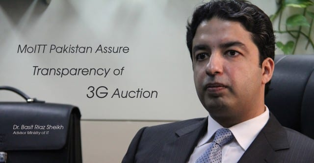 MoITT Pakistan Assure Transparency of 3G Auction