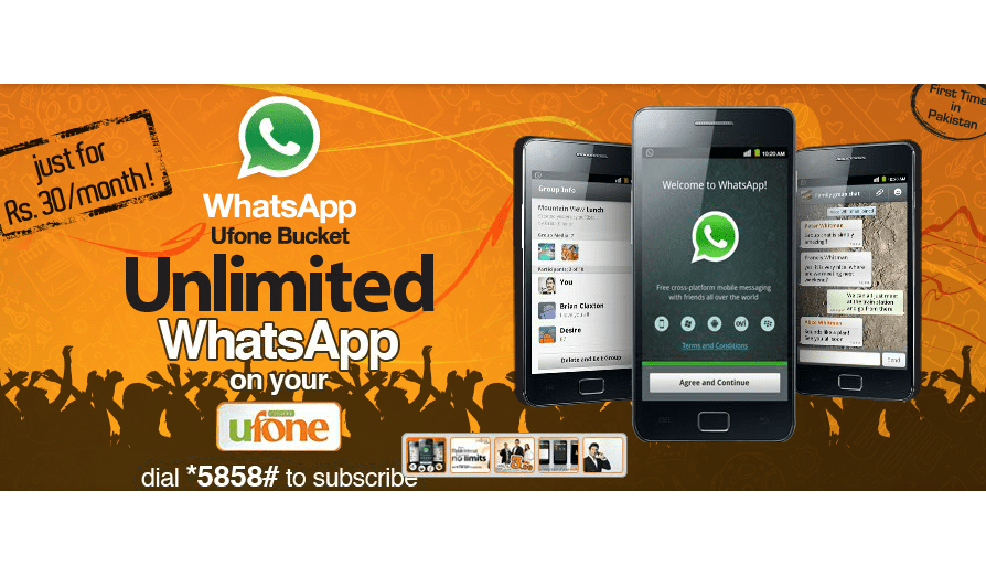 Ufone brings Unlimited WhatsApp Bucket