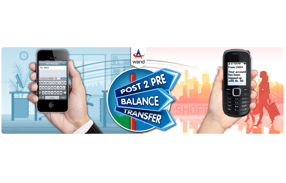 Warid Brings Post-2-Pre Balance Transfer