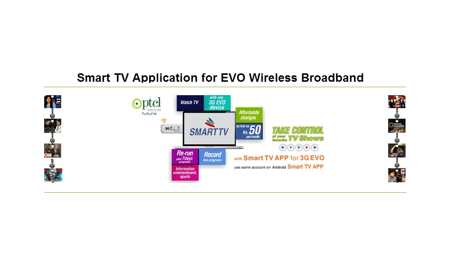 PTCL launches Smart TV Application for EVO Wireless Broadband