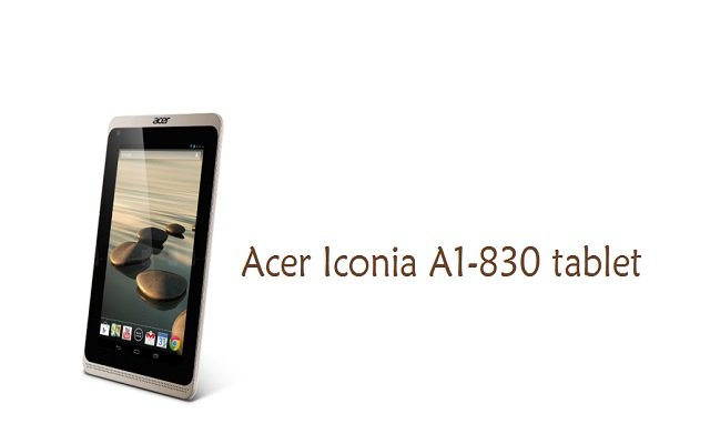 Acer to launch Iconia A1-830 tablet in 2014