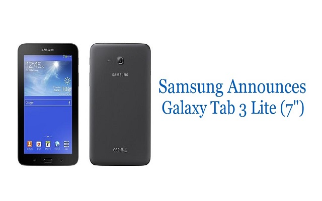 "Samsung officially announces Galaxy Tab3 Lite (7"")"