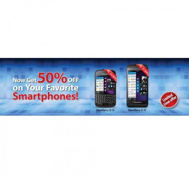 Warid gives 50% Discount on Blackberry Q10 and Z-10