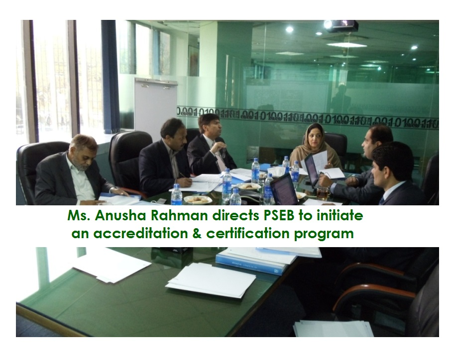 Ms. Anusha Rahman directs PSEB to Initiate Programs for IT Companies