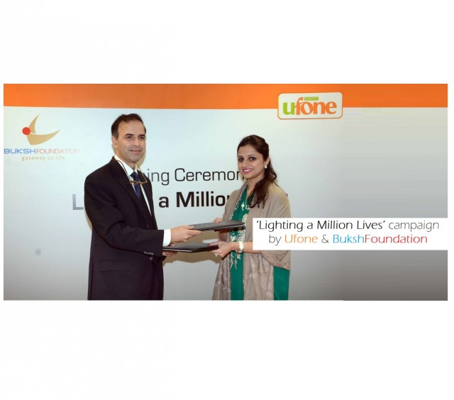Ufone and Buksh Foundation starts 'Lighting a Million Lives' campaign