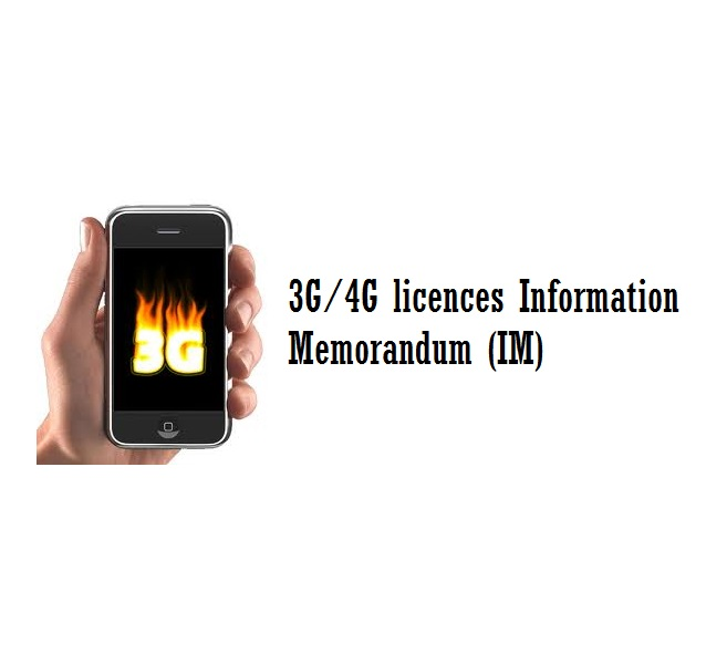 Review of 3G/4G licences Information Memorandum (IM)