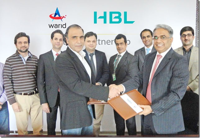 MoU Signed Between Warid & HBL