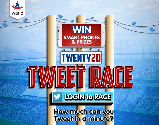 Win Smartphones in Warid T20 Tweet Race