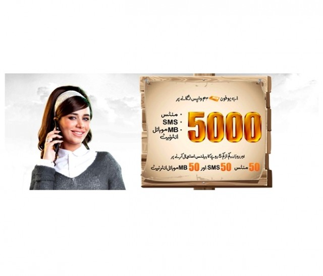 Ufone gives 5000 reasons to revert back to Ufone