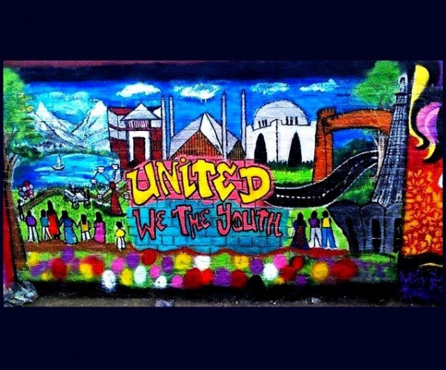 Warid decorates City walls with the Colors of Youth