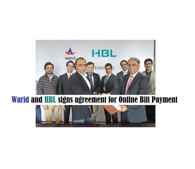 Warid and HBL signs agreement for Online Bill Payment