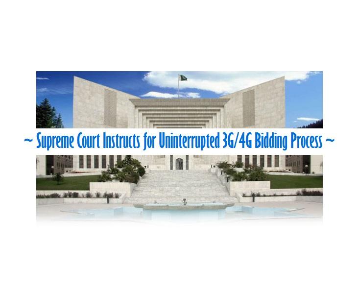 Supreme Court Instructs for Uninterrupted 3G/4G Bidding Process