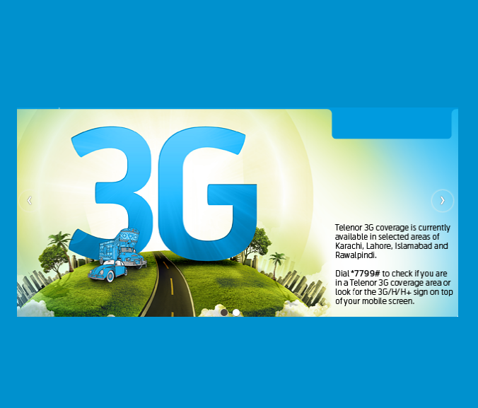 Telenor Announces 3G Packages for Prepaid & Postpaid