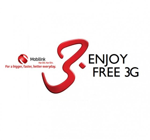 Mobilink provides free 3G services across Major Cities of Pakistan