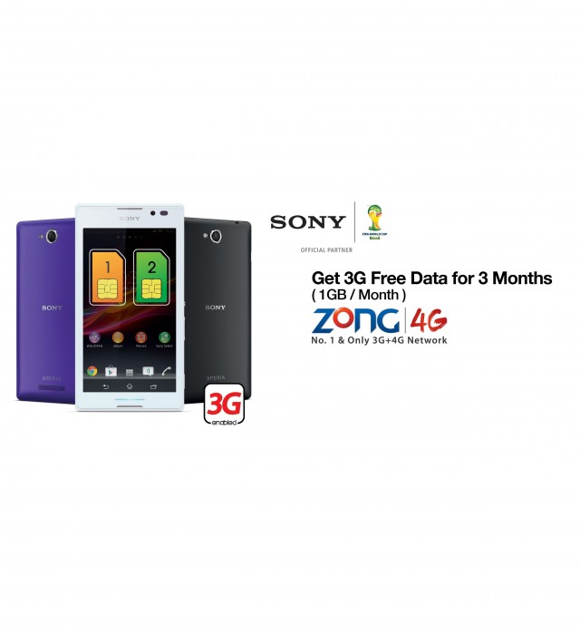 Zong Offers Xperia C & Xperia L With FREE Data Package