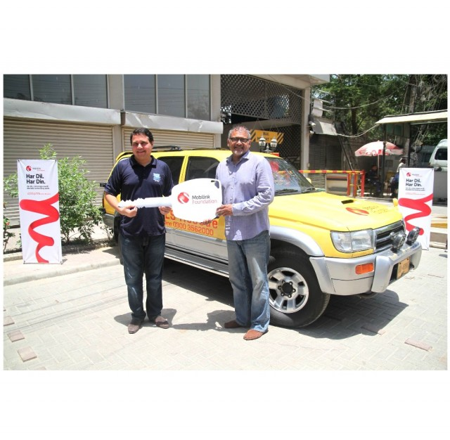 Mobilink Foundation Donates Rescue Vehicle to Pakistan Life Savers Association