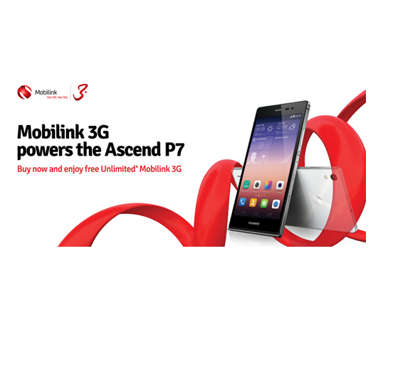 Mobilink launches 3G enabled Huawei Ascend P7