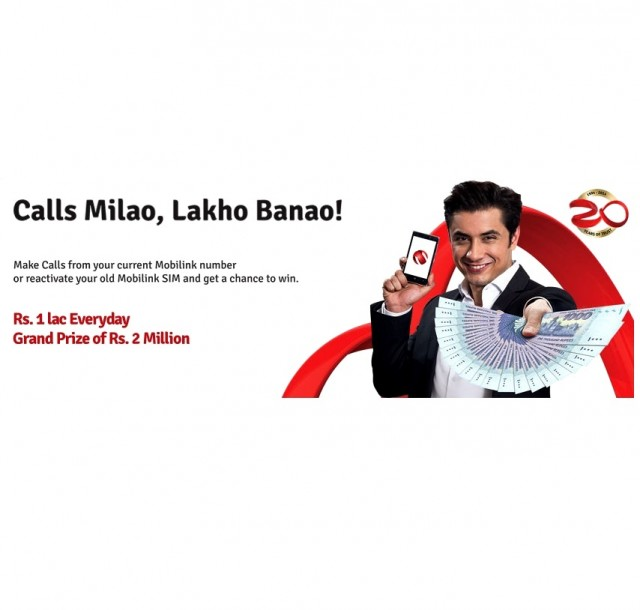 Mobilink Brings Calls Milao, Lakhon Banao Offer