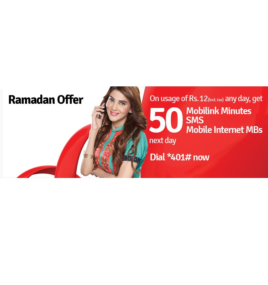 Mobilink Introduces Ramadan Bonus Offer