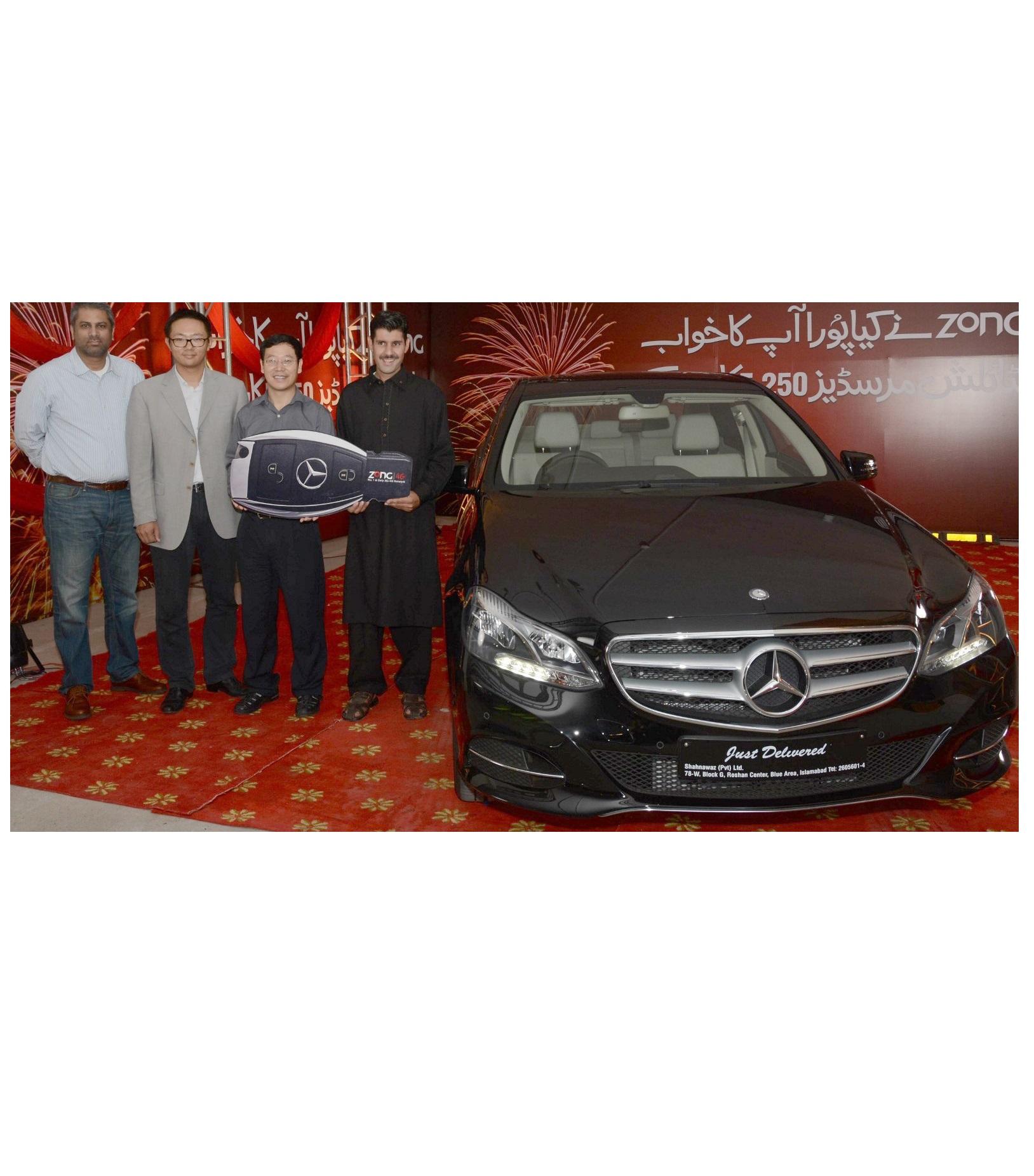 CEO Zong hands over Merzedez Benz Key to the Winner