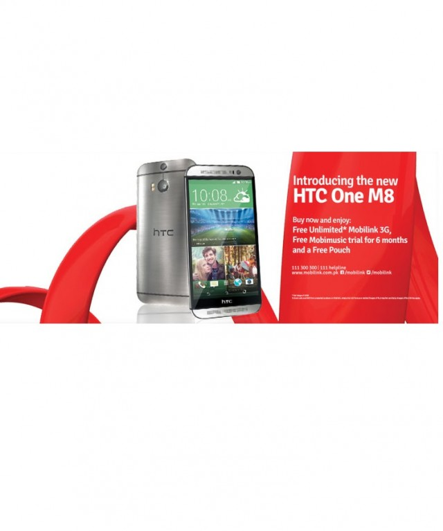 Mobilink brings HTC One (M8) for its Customers