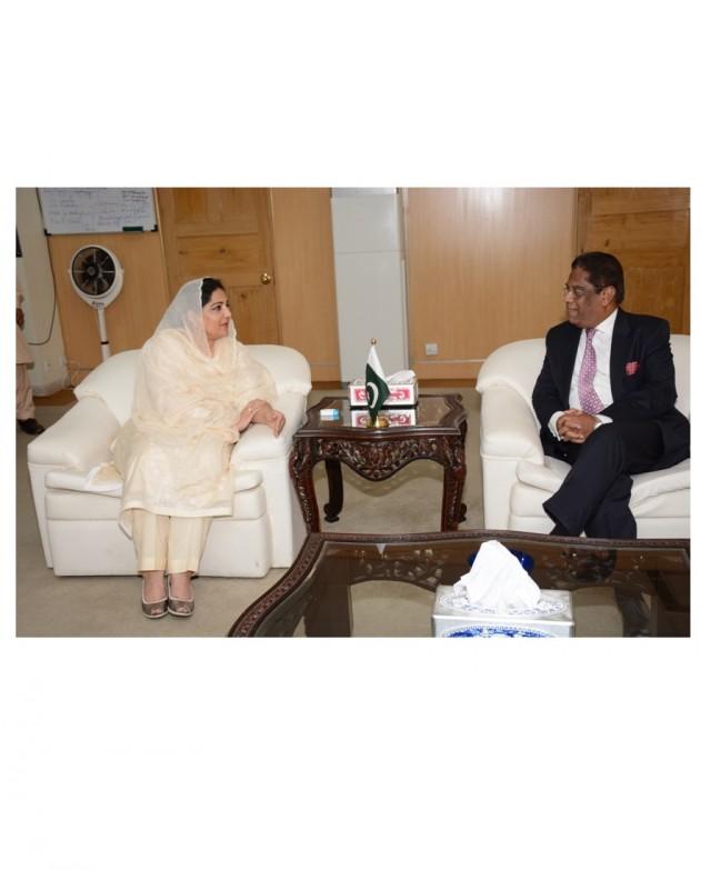 High Commissioner of Bangladesh calls Anusha Rahman