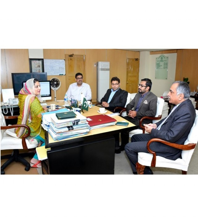 Lycamobile delegation called on Minister IT Mrs. Anusha Rahman Khan