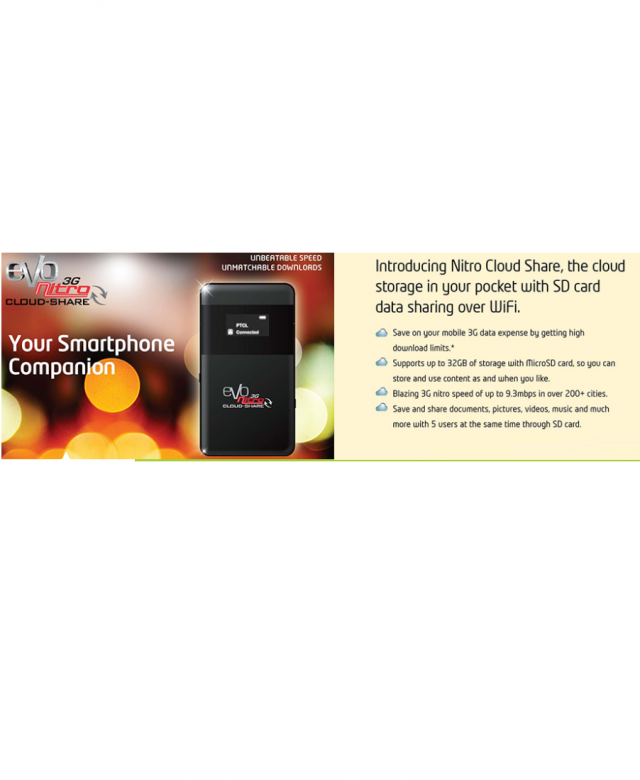 PTCL Introduces Nitro Cloud Share Device