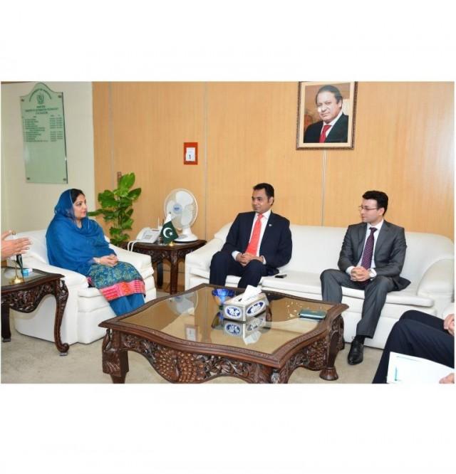 Anusha Rahman meets a delegation of Qatar based Telecom Companies