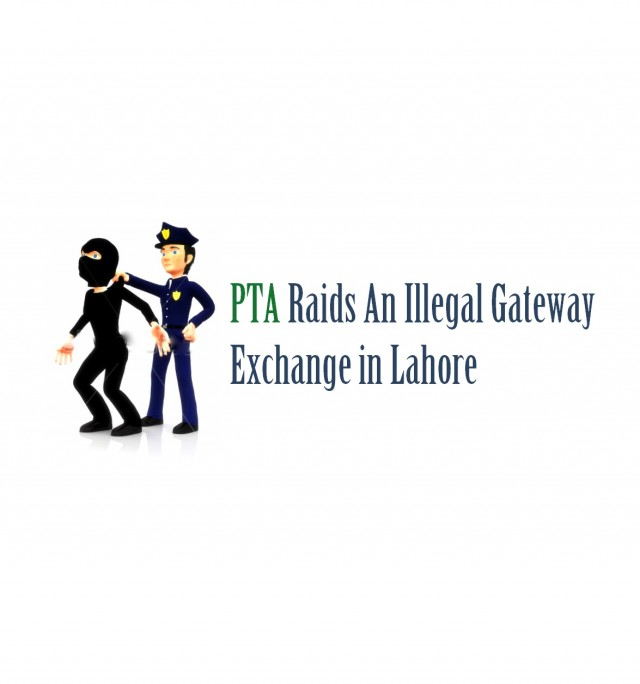 Illegal Gateway Exchange Raided in Lahore