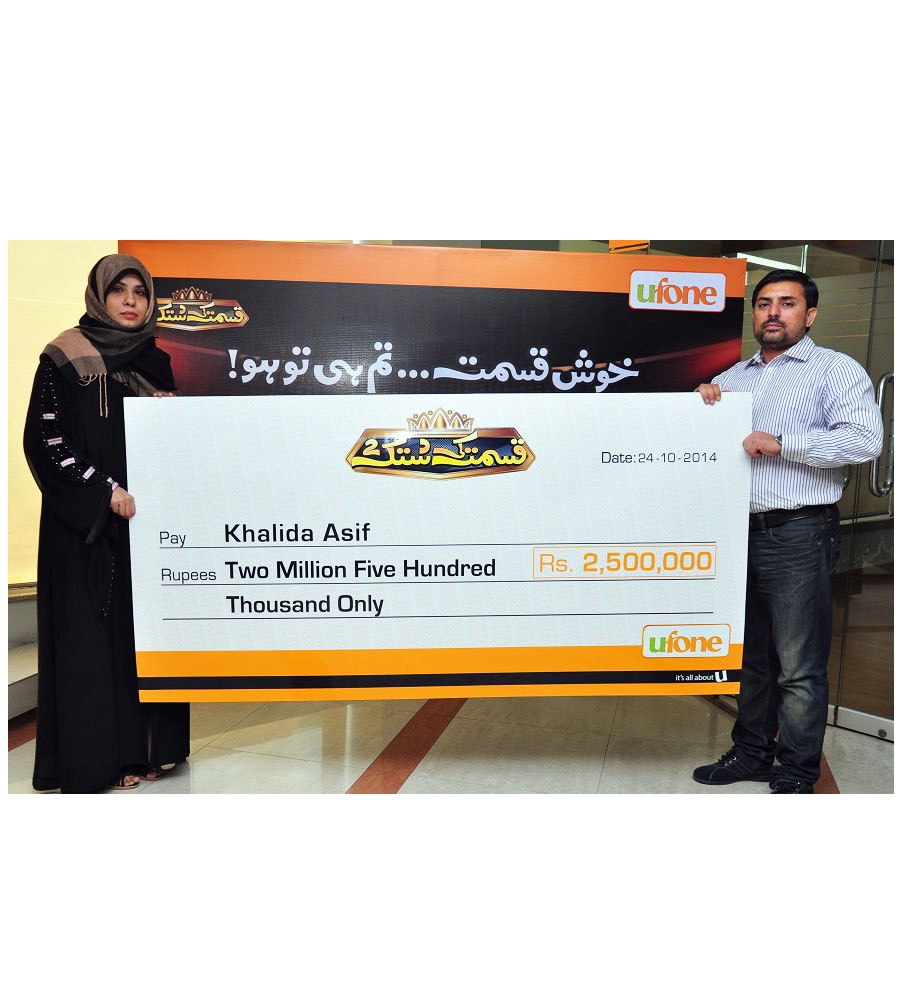 Ufone Kismat ki Dastak Concludes with Rs 2.5 million grand prize