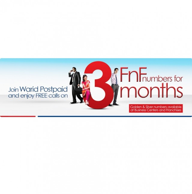 Warid Brings Free For 3 Offer for Postpaid Customers