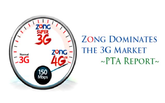 Zong Dominates the Pakistan's 3G Market - PTA Report