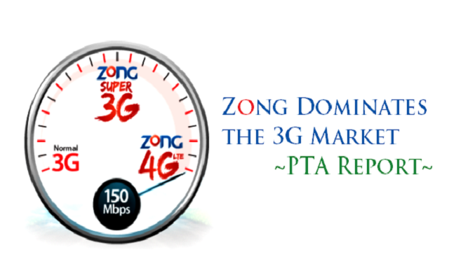 Zong Dominates the Pakistan's 3G Market - PTA Report
