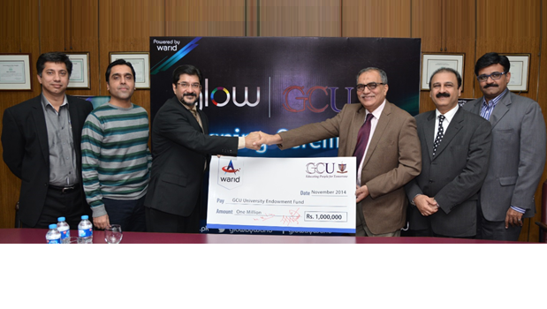 Warid Donates Rs. 1 Million to GCU Lahore Endowment Fund Trust