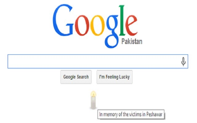 google-condolences-peshawarattack-with-a-candle-on-its-homepage