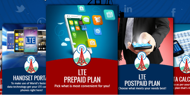 Warid 4G LTE Brings New PostPaid & PrePaid Plans