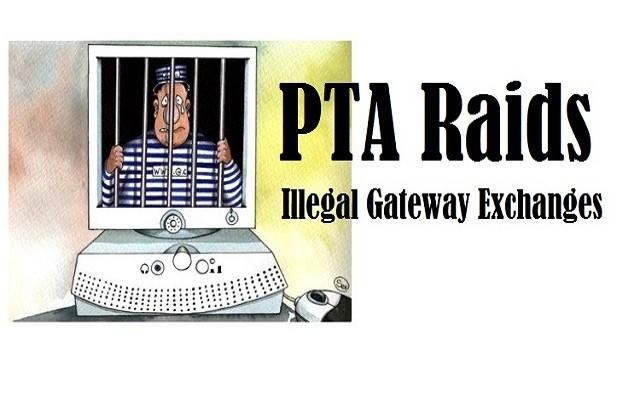 PTA Raids 5 Illegal Gateway Exchanges in Hafizabad