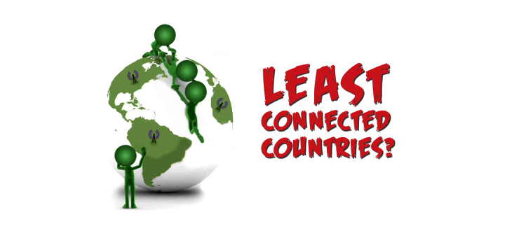 least connected countries