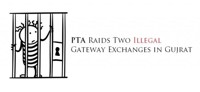 PTA Raids Two Illegal Gateway Exchanges in Gujrat