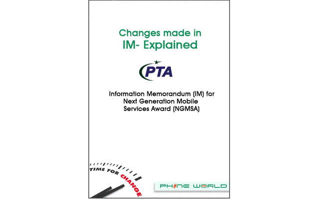 Pakistan IM For NGSMA - Changes Made in IM Explained